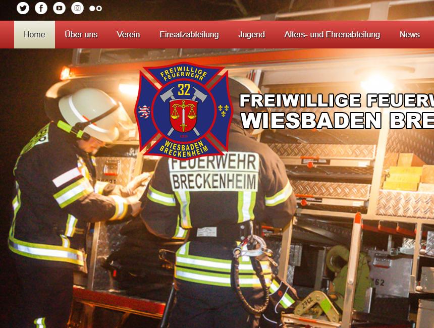 Homepage der Feuerwehr Breckenheim in neuem Gewand